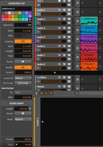 オーディオ波形の設定