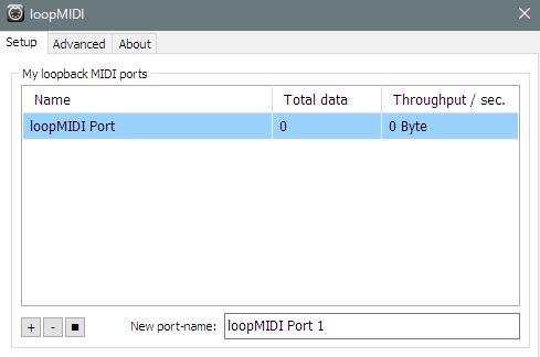 左下の+,-でMIDIポートを追加できる
